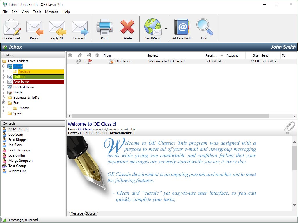 E-mail software for all your messaging needs.
