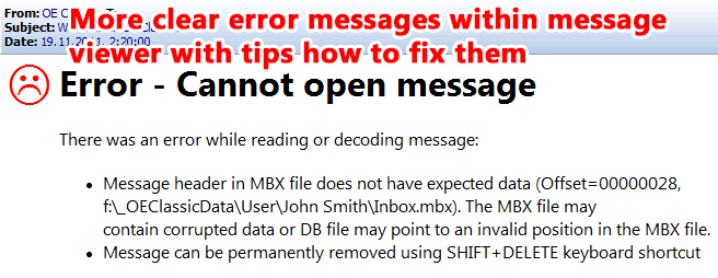 Error messages are more clear and offer tips how to fix them