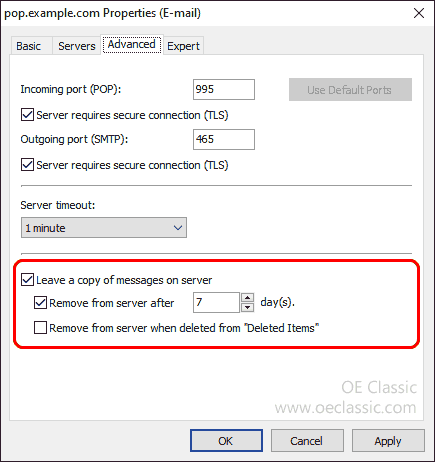 Improved UIDL (server message) handling for POP accounts - resume from last aborted message, leave a copy on server for a user-defined time period.